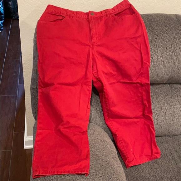 Lauren jeans red Capri jeans